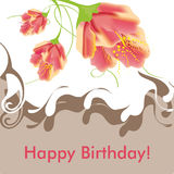 Happy Birthday, Greeting Card Royalty Free Stock Image