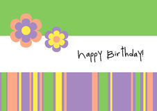 Happy Birthday! - Greeting Card Stock Photography