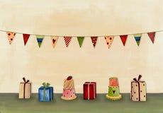Happy Birthday. Greeting card Royalty Free Stock Image