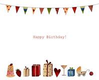 Happy Birthday. Greeting card Royalty Free Stock Photography