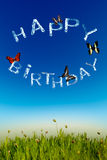 Happy birthday greeting card Stock Photo