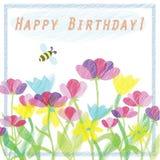Happy Birthday!. Greeting card with happy birthday Stock Photography