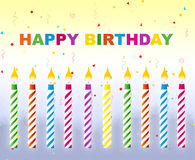 Happy Birthday - Greeting card stock images