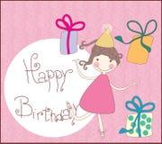 Happy birthday greeting card. Vector illustration of birthday greeting card Royalty Free Stock Photography
