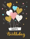 Happy birthday greeting card. Royalty Free Stock Image