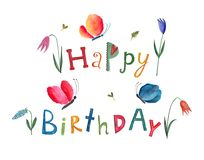 Happy birthday. Greeting card Stock Photography