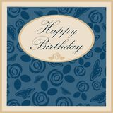 Happy Birthday Greeting Card on background. Vector Illustration Stock Images