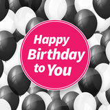 Happy birthday greeting card with balloons. Happy birthday greeting card background with balloons Stock Photography