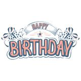 Happy birthday greeting card with a beautiful inscription vector illustration