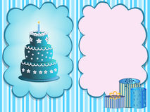 Happy birthday greeting card Royalty Free Stock Photos