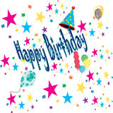 Happy birthday greeting card Royalty Free Stock Photo