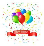 Happy birthday greeting card Stock Photography