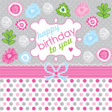 Happy Birthday! Greeting card, celebration backgro Stock Photo