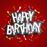 Happy Birthday greeting card. On colorful background vector Illustration Stock Photos