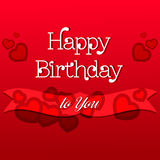 Happy Birthday Greeting Card. Colorful Happy Birthday Greeting Card Design Illustration Royalty Free Stock Images
