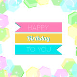 Happy Birthday Greeting Card. Colorful Happy Birthday Greeting Card Design Illustration Stock Photography
