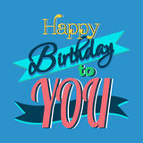 Happy Birthday Greeting Card. Colorful Happy Birthday Greeting Card Design Illustration Stock Image