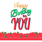 Happy Birthday Greeting Card. Colorful Happy Birthday Greeting Card Design Illustration Royalty Free Stock Photography