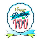 Happy Birthday Greeting Card. Colorful Happy Birthday Greeting Card Design Illustration Royalty Free Stock Photo