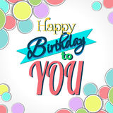 Happy Birthday Greeting Card. Colorful Happy Birthday Greeting Card Design Illustration Royalty Free Stock Image