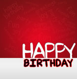 HAPPY BIRTHDAY greeting card Royalty Free Stock Photography