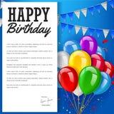 Happy Birthday greeting card concept Stock Photos