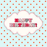 Happy birthday greeting card in cottage style Stock Image