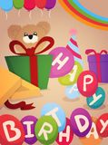 Happy Birthday greeting card design Stock Photography