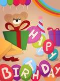 Happy Birthday greeting card design Stock Photography