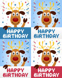 Happy Birthday Cute Reindeer Stock Image