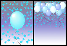 Happy birthday greeting card front and back. male Royalty Free Stock Images
