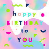 Happy birthday greeting card Royalty Free Stock Images