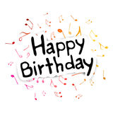 Happy Birthday Greeting Card. Illustration of a Birthday Card Stock Photography