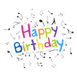 Happy Birthday Greeting Card. Illustration of a Birthday Card Royalty Free Stock Photos