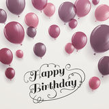 Happy Birthday Greeting Card Stock Image