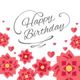 Happy Birthday Greeting Card. Illustration of a Happy Birthday Greeting Card Design Stock Photo