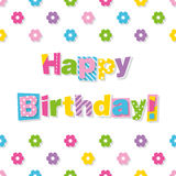Happy birthday greeting card Stock Photography
