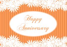 Happy anniversary greeting card with flowers Royalty Free Stock Photo