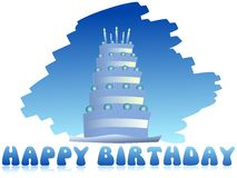 Happy birthday greeting card with cake. Image usable as greeting card for all birthday Stock Photos