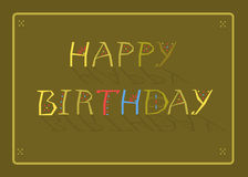 Happy Birthday, Greeting card Royalty Free Stock Photos