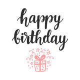 Happy Birthday. Greeting card, invitation, poster Royalty Free Stock Images