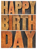 Happy birthday greeting card Royalty Free Stock Photos