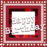 Colorful Happy birthday greeting card Royalty Free Stock Photography