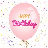 Happy birthday greeting card and party invitation template Stock Image