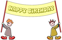Isolated Happy birthday greeting card stock images