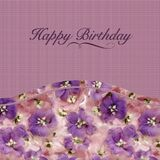 Happy birthday greeting card, template