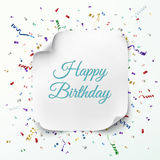 Happy Birthday greeting card template Stock Photography