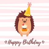Happy Birthday greeting card template Royalty Free Stock Photo