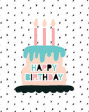 Happy Birthday greeting card template Royalty Free Stock Photography