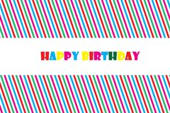 Happy Birthday Greeting Card Vector EPS 10 illustration. Stock Photography